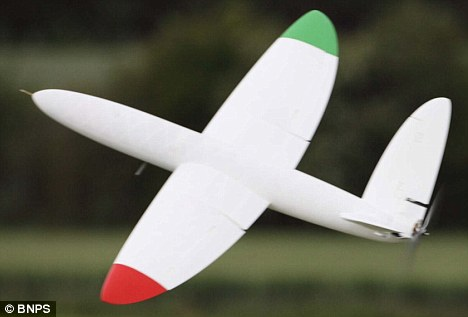 Aeroplane created using a 3D printer